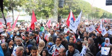أنصار حركة النهضة يحتفلون بالذكرى 58 للاستقلال
