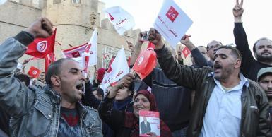 إجتماع شعبي لمرشح الانتخابات الرئاسية محمد المنصف المرزوقي بولاية القيروان