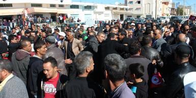 اجتماع شعبي  لمنذر الزنايدي في  مدينة القصرين