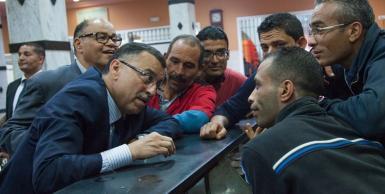 مرشح الانتخابات الرئاسية عـبـد الرزاق كيلانـي في زيارة الى ولاية صفاقس