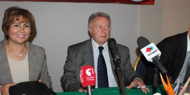 ندوة صحفية للمرشح حمودة بن سلامة