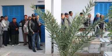 اول صور العملية الانتخابية من معتمدية مجاز الباب