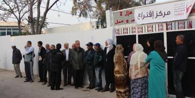 اول صور العملية الانتخابية من دائرة تونس 1