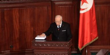 الباجي قائد السبسي يؤدي مهامه الدستورية امام مجلس النواب