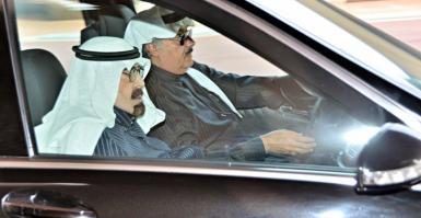 آخر صور التقطت للملك السعودي الراحل عبد الله بن عبد العزيز وهو مغادرا القصر الملكي