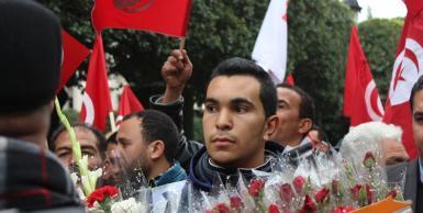 مسيرة مناهضة للإرهاب بشارع الحبيب بورقيبة