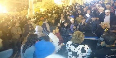 وقفة إحتجاجية لأنصار حركة النهضة تنديدا بالارهاب