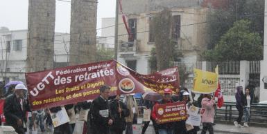 إفتتاح فعاليات المنتدى الاجتماعي بمسيرة منددة بالارهاب من باب سعدون الى متحف باردو